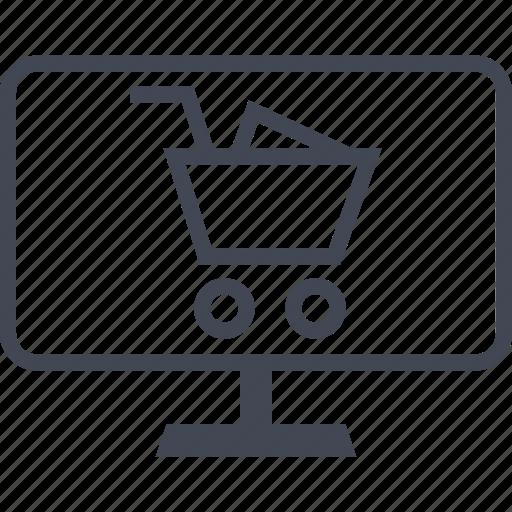 buying, ecommerce, mac, pc, shop, shopping icon