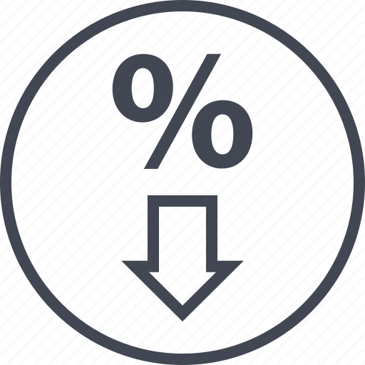buying, down, ecommerce, rate, shop, shopping icon