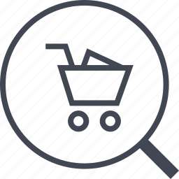 buying, ecommerce, search, shop, shopping icon