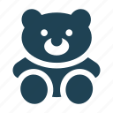 bear, cuddle, hug, shopping, solid, teddy bear, toy icon