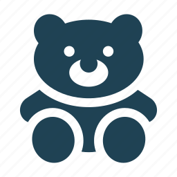 bear, cuddle, hug, shopping, solid, teddy bear, toy icon