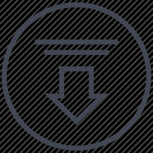 arrow, down, low, point icon