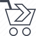 buying, cart, ecommerce, next, shop, shopping icon