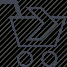 buying, cart, ecommerce, next, shop, shopping icon