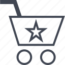 buying, cart, ecommerce, shop, shopping, star icon