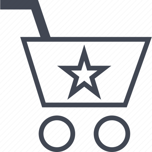 buying, cart, ecommerce, shop, shopping, star icon