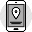 gps, locate, location, mobile, phone icon