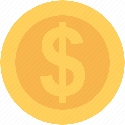 currency coin, dollar, dollar coin, money, usd icon