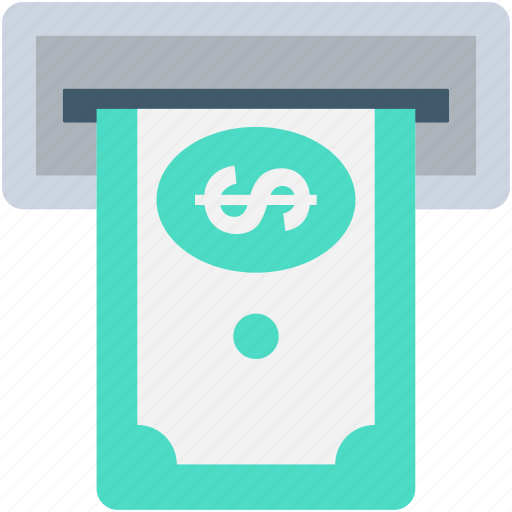 atm withdrawal, banking, cash withdrawal, credit card, transaction icon