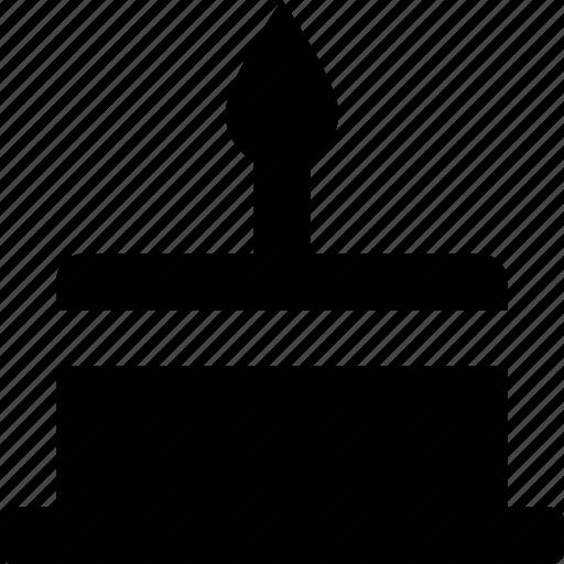 bakery, birthday cake, cake, candle, food icon