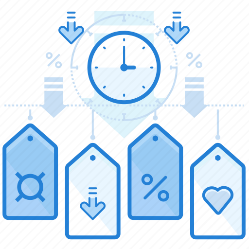 discount, offer, sale, time icon