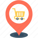 location marker, location pin, map locator, map pin, store location icon