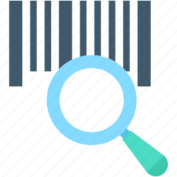 barcode, barcode reader, magnifier, scanning barcode, searching barcode icon