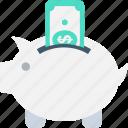cash bank, money bank, money box, penny bank, piggy bank