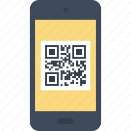 code, commerce, mobile, phone, qr, retail, shopping icon