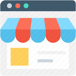 e commerce, monitor, online shop, online shopping, online store icon