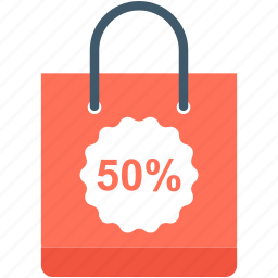 discount, discount bag, shopper bag, shopping bag, tote bag icon