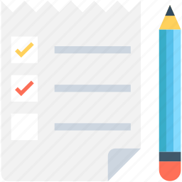 checklist, list, memo, pen, shopping list icon