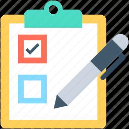 checklist, list, memo, pen, shopping list icon