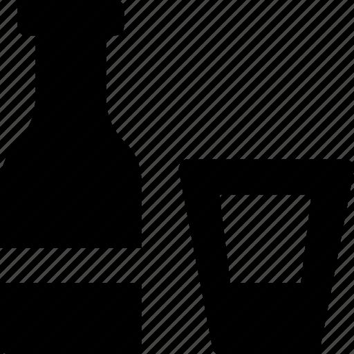 beverage, bottle, drink, glass, wine icon