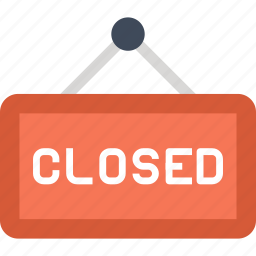 board, closed, hanger, shop, sign, signboard, store icon