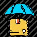 parcel, parcel insurance, parcel protection, parcel safety, parcel security, product security, secure delivery icon