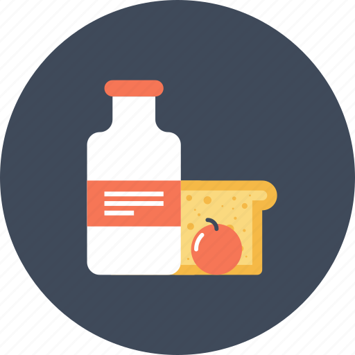 beverage, bread, drink, food, goods, milk, shopping icon