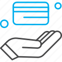 card, credit, hand, atm icon