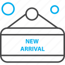arrival, label, new, price, tag icon