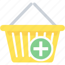 add, basket, cart, shop, shopping, to icon