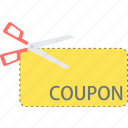 coupon, discount, label, voucher icon