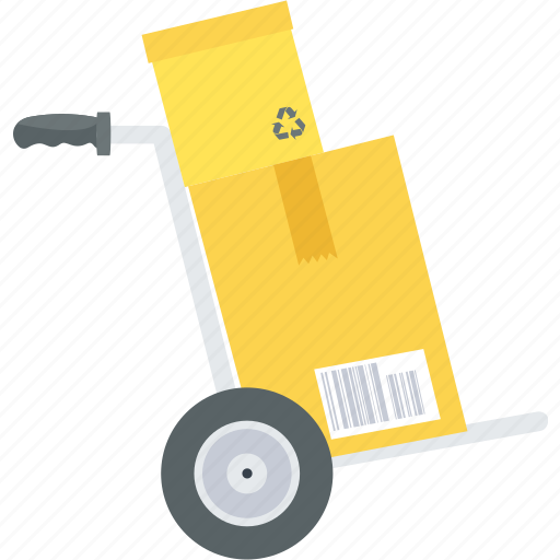 cart, courier, delivery, fast, package, trolley icon
