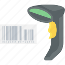 barcode, code, product, scanner icon