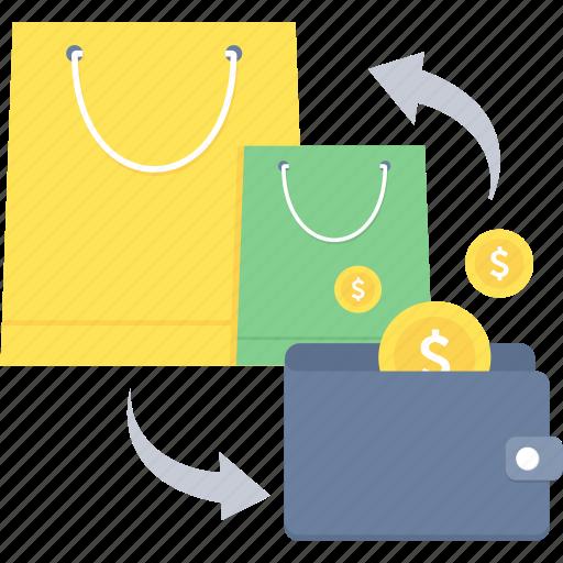back, cash, earning, profit icon