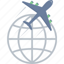 delivery, international, shipping icon