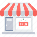 market, open, shop, store icon