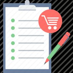 checklist, clipboard, item, list, menu icon