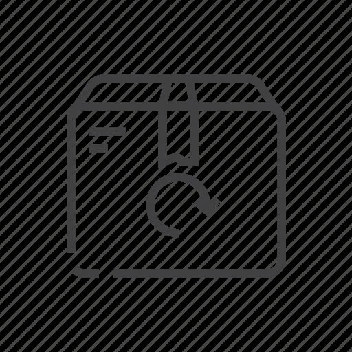 arrow, refund, returns, revert icon