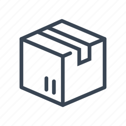 box, cardboard, package, shopping icon