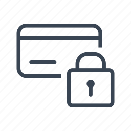 card, credit, lock, secure, security icon