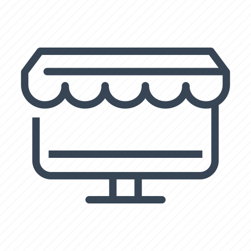 computer, ecommerce, online, shop, shopping icon