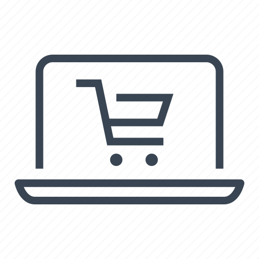 computer, ecommerce, laptop, online, shopping icon