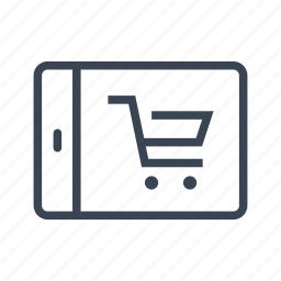 ecommerce, online, shopping, tablet icon