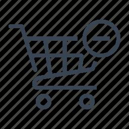 cart, delete, remove, shop, shopping, trolley icon