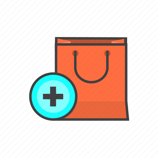 add, bag, ecommerce, online, shopping icon