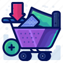 add, cart, commerce, ecommerce, shop, shopping icon