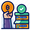 bitcoin, commerce, ecommerce, shop, shopping icon