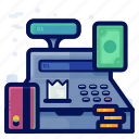 cash, commerce, ecommerce, register, shop, shopping icon