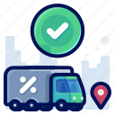 commerce, confirm, shopping, ecommerce, shop, delivery icon