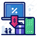 commerce, devices, ecommerce, electronic, sale, shop, shopping icon